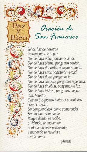 Oracia N Por La Paz De San Francisco De Asas